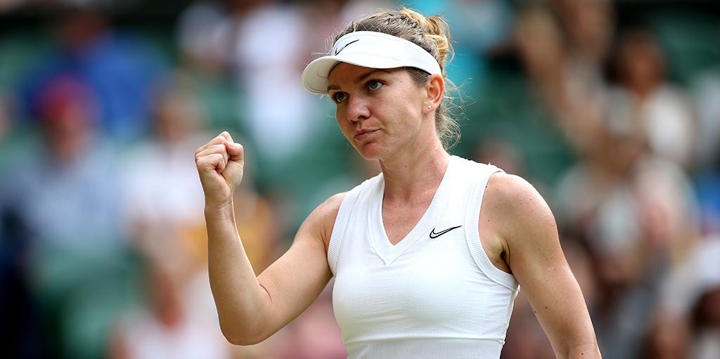 Simona Halep at Wimbledon