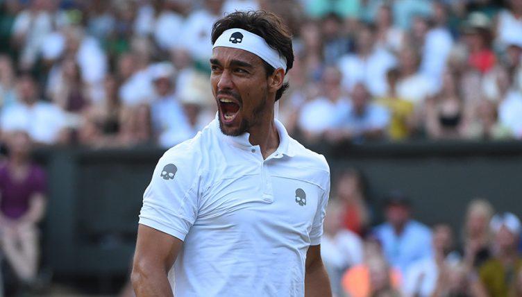 Fabio Fognini at Wimbledon