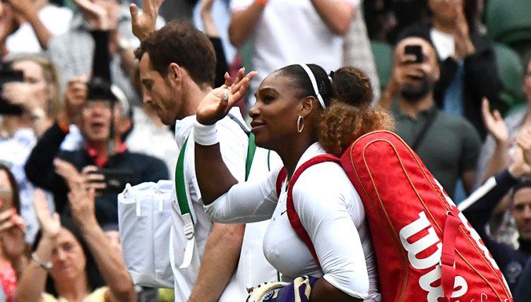 Andy Murray and Serena Williams at Wimbledon