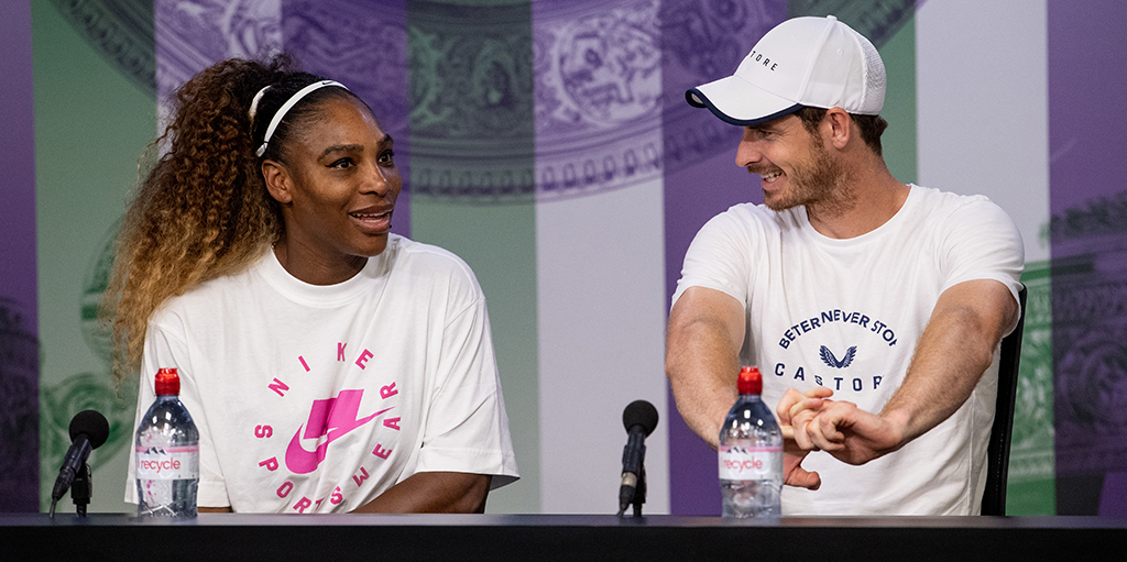Andy Murray and Serena Williams press conference