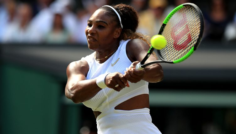 Serena Williams backhand Wimbledon