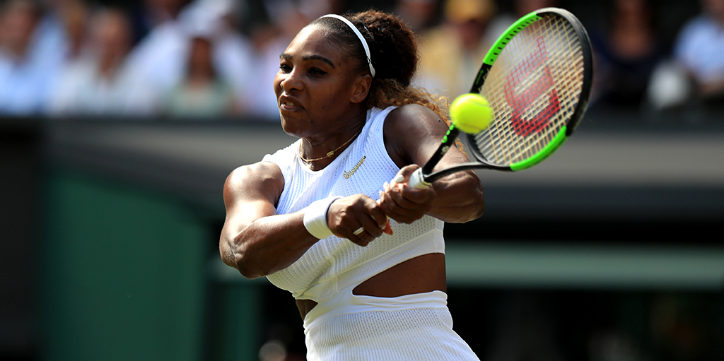 Serena Williams backhand Wimbledon