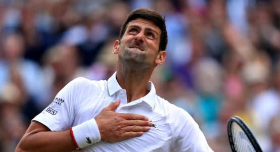 Novak Djokovic pumped up