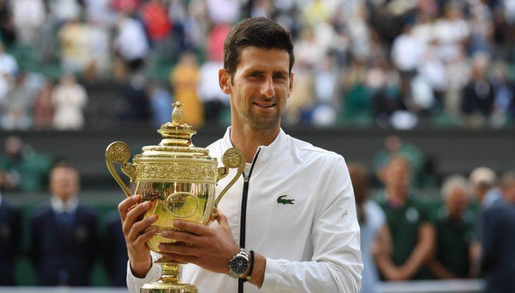 Novak Djokovic Wimbledon trophy