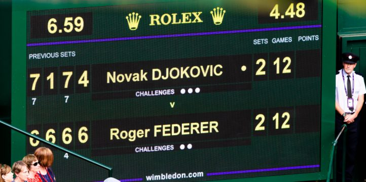 Wimbledon final scoreboard