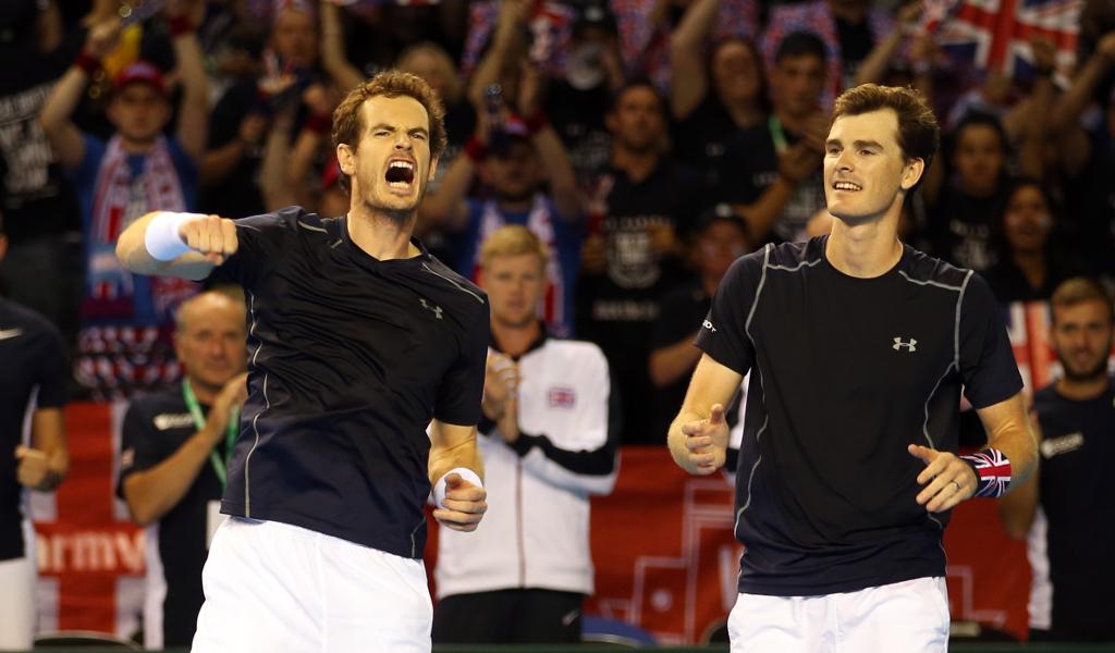Andy Murray and Jamie Murray