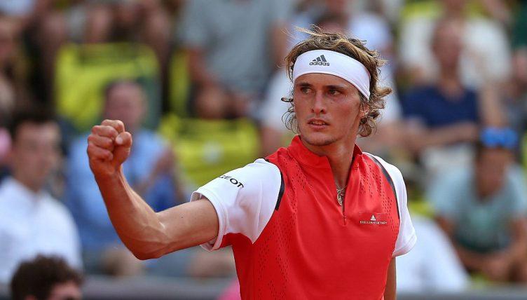 Alexander Zverev winning