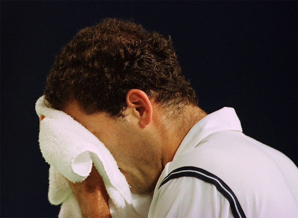 Pete Sampras crying