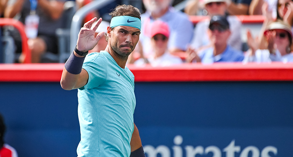 Rafael Nadal waving