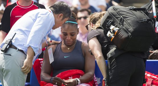 Serena Williams injured at Rogers Cup
