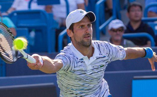 A Novak Djokovic forehand