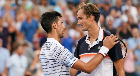 Novak Djokovic and Daniil Medvedev