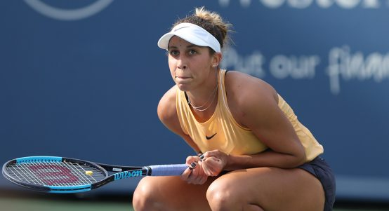 Madison Keys looks on in Cincinnati