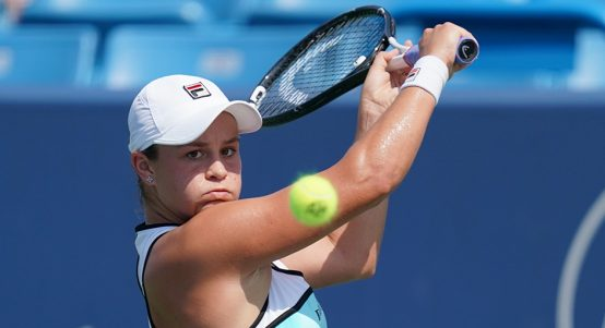 Ashleigh Barty backhand in Cincinnati