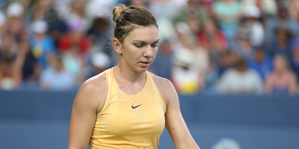 Simona Halep looking down