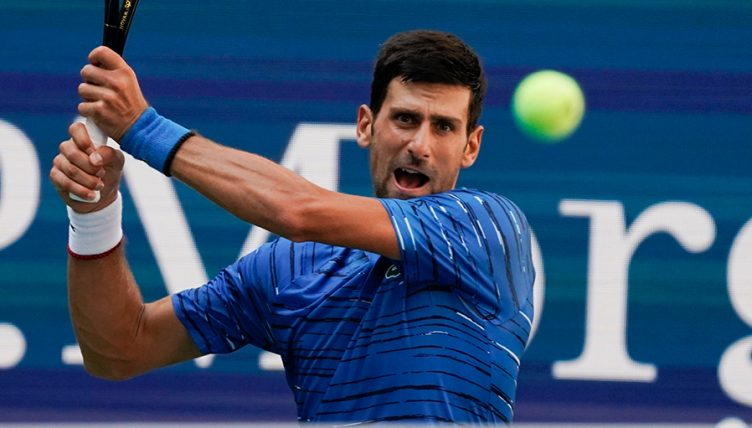 Novak Djokoviv in US Open action
