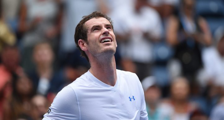 Andy Murray looking up