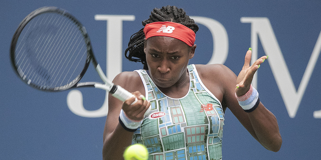 Coco Gauff US Open forehand