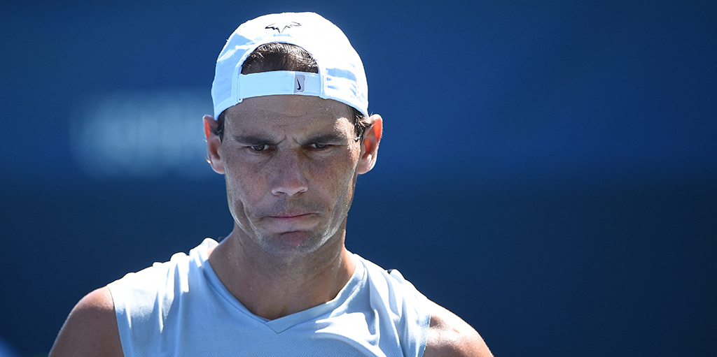 Rafael Nadal at US Open practice