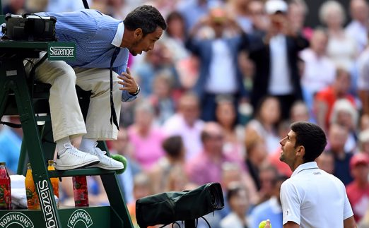 Damien Steiner Wimbledon final umpire
