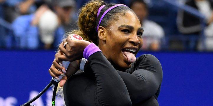 Serena Williams in a twist