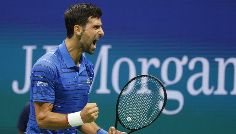 Novak Djokovic roar at US Open