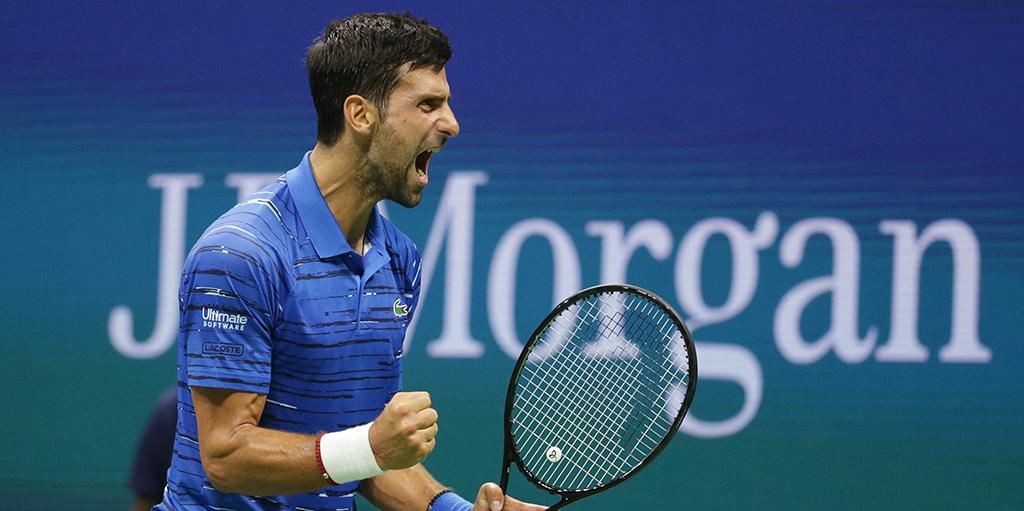 Novak Djokovic roar at US Open