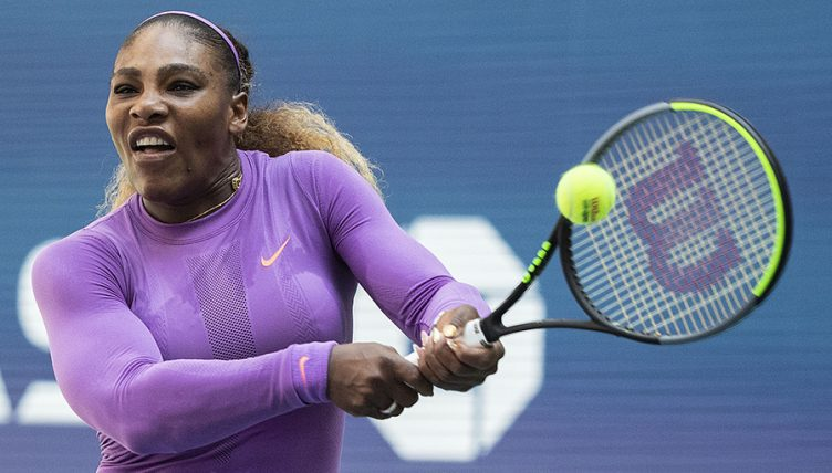 Serena Williams forehand at US Open
