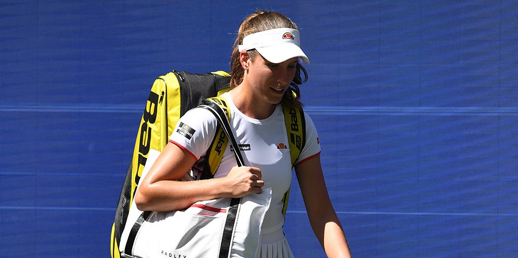 Johanna Konta walking on at US Open