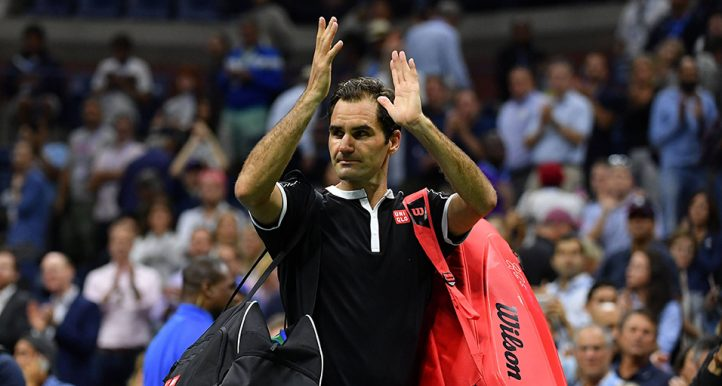 Roger Federer walks off at US Open