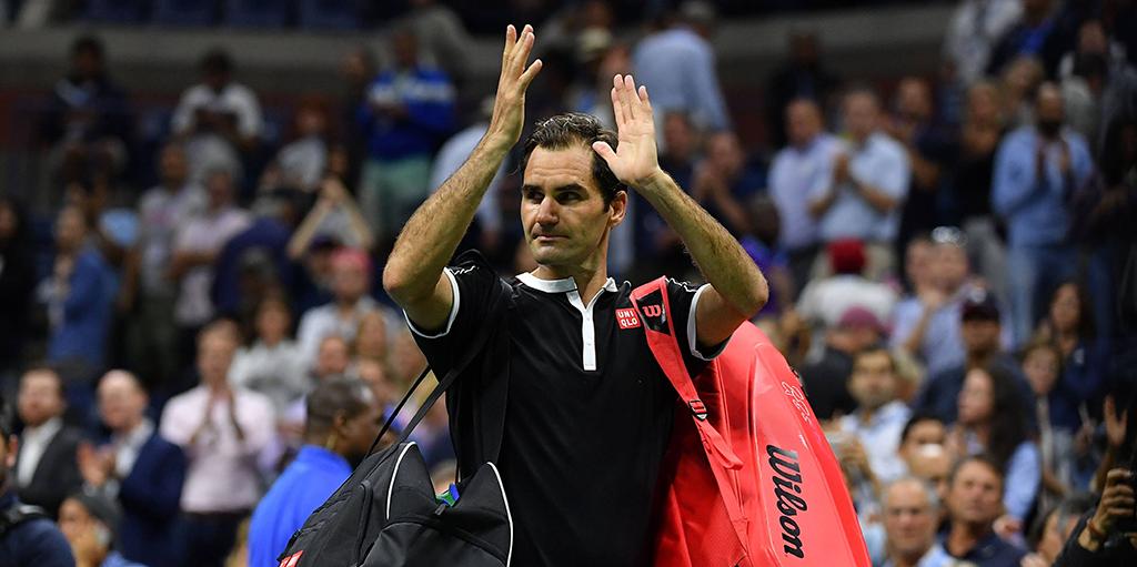 Roger Federer walks off at US Open