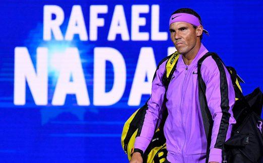 Rafael Nadal walking out at US Open