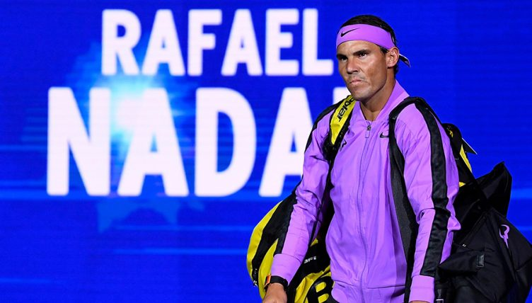 Rafael Nadal walking out at US Open