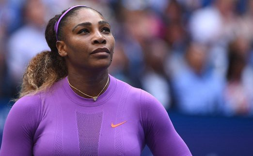 Serena Williams looking up