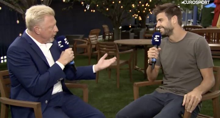Gerard Pique and Boris Becker talk Davis Cup