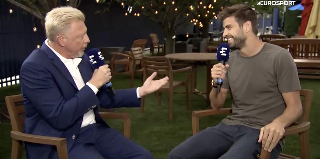 Gerard Pique and Boris Becker talk Davis Cup