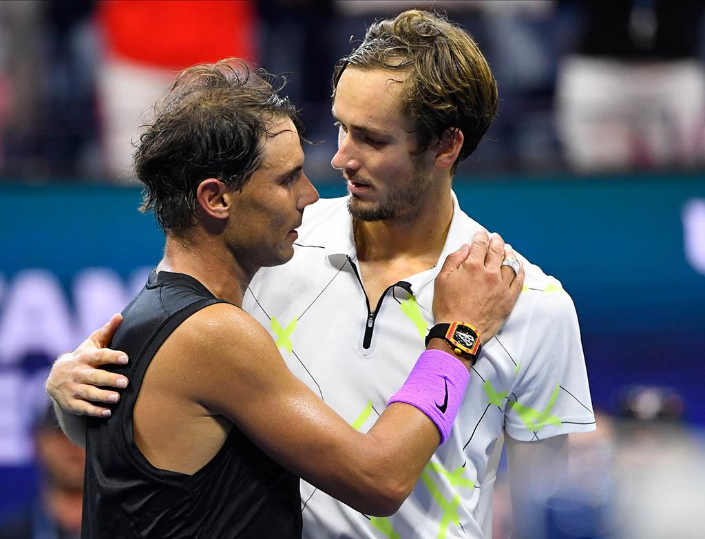 Rafael Nadal and Daniil Medvedev after US Open final