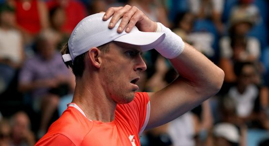Kevin Anderson looking glum