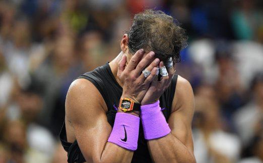 Rafael Nadal after winning US Open