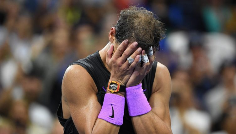 Rafael Nadal after winning US Open