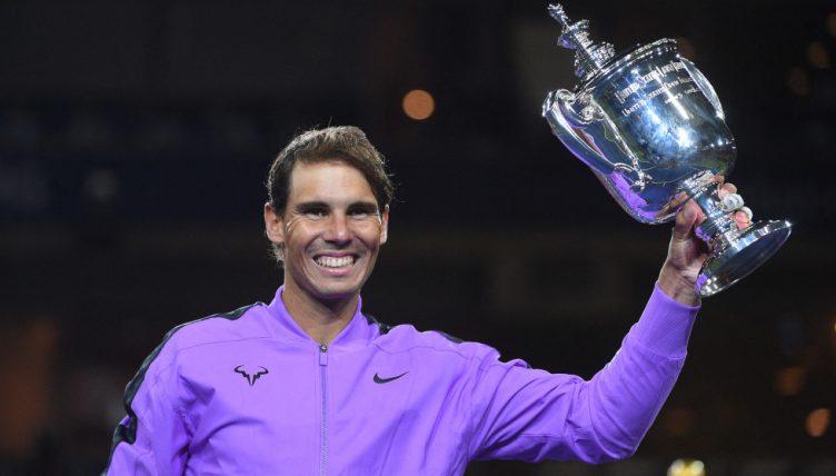 Rafael Nadal US Open trophy