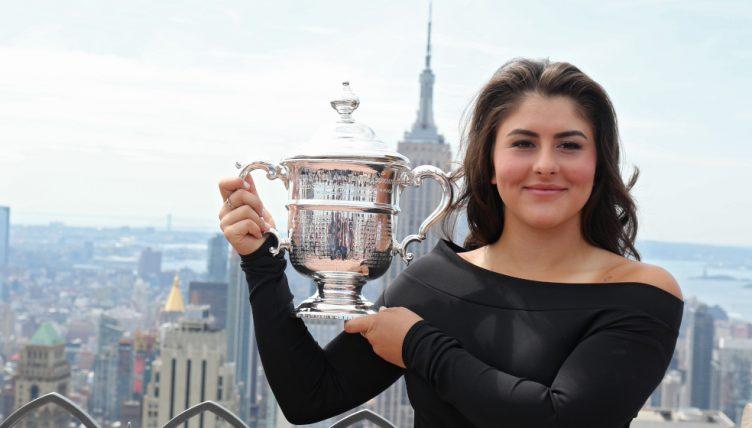 Bianca Andreescu US Open trophy