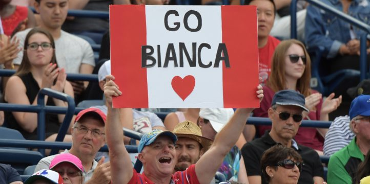 Bianca Andreescu and Canada fans
