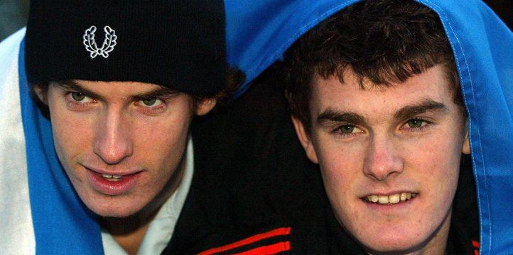 Jamie Murray and Andy Murray as kids