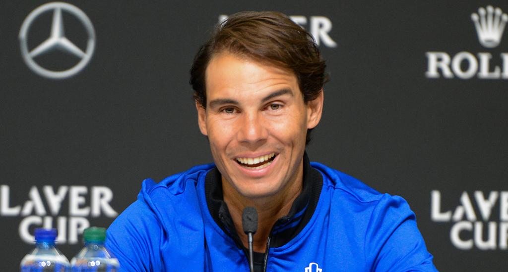 Rafael Nadal press conference at Laver Cup