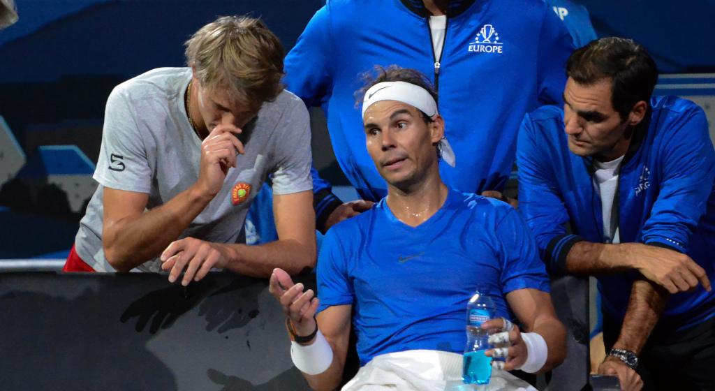 Alexander Zverev, Rafael Nadal and Roger Federer