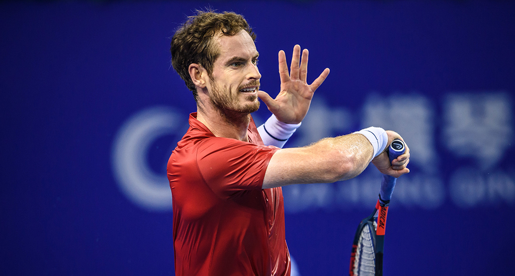 Andy Murray in China Open action