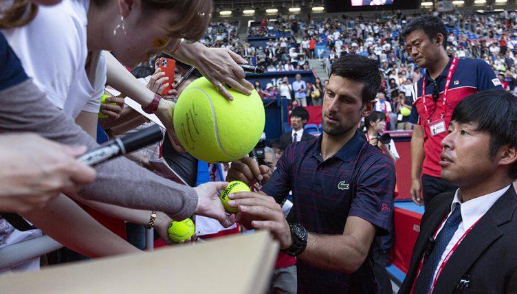 Novak Djokovic swamped in Tokyo