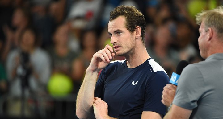 Andy Murray watching tribute video at Australian Open