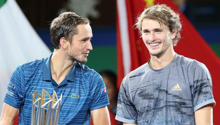 Daniil Medvedev and Alexander Zverev at Shanghai Masters